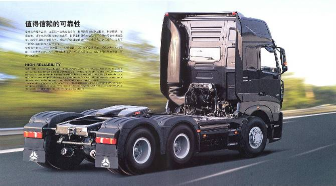 tractor truck for road transportation