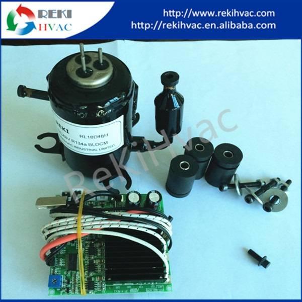 R134A 48V DC Fridge Compressor Mini Beer Cooler Compressor RL18D48T