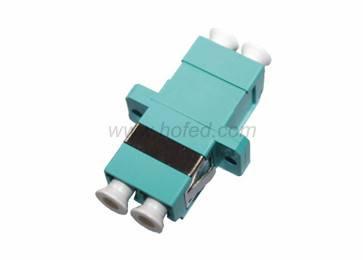 LC, Multimode ,Duplex, Plastic,OM3, Flangeless, Fiber Optic Adapter