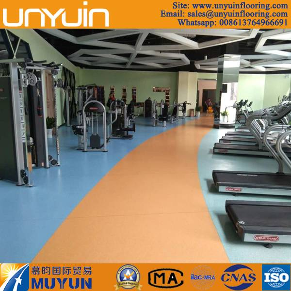 Anti Slip and Easy Cleaning PVC Vinyl Flooring for Fitness Club