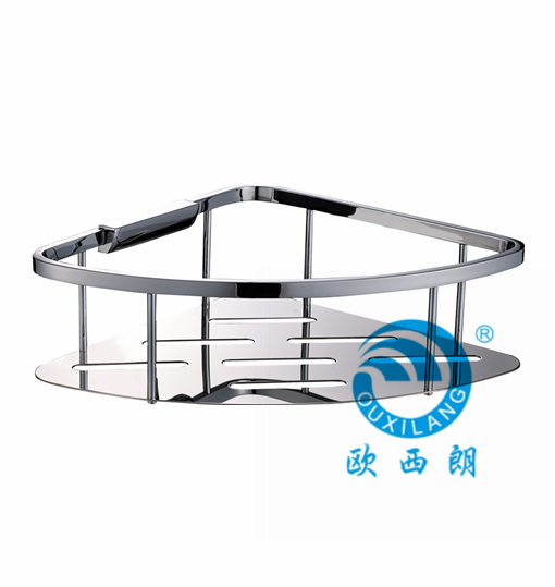 Stainless steel 304# shower shelf,corner caddy,1 tier