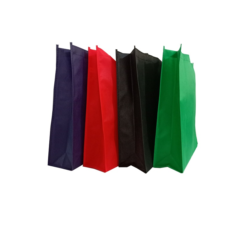 colorful plenty in stock eco-friendly non woven resealable tote shopping bag with custom logo