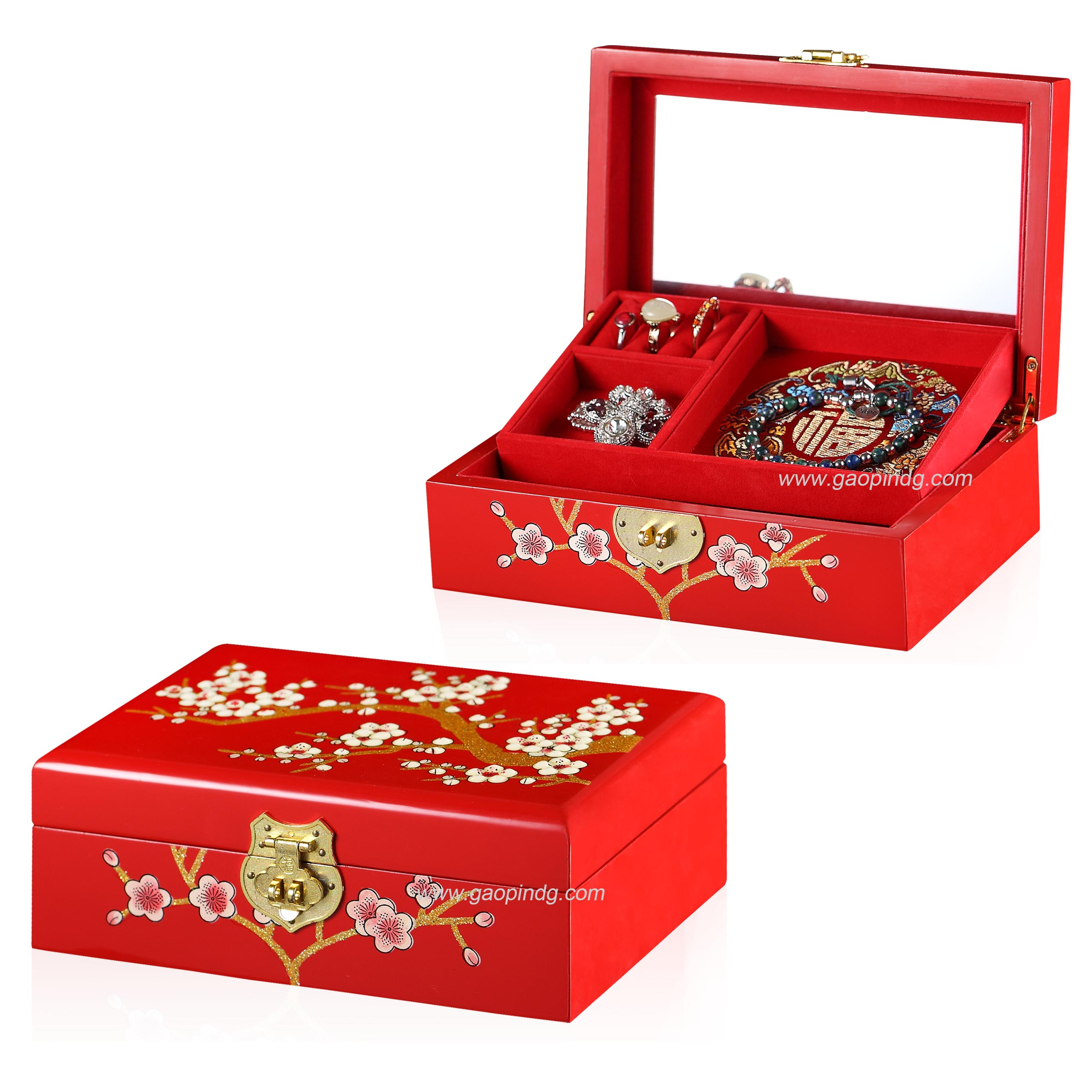 Elegant Customized Wooden Jewelry Box