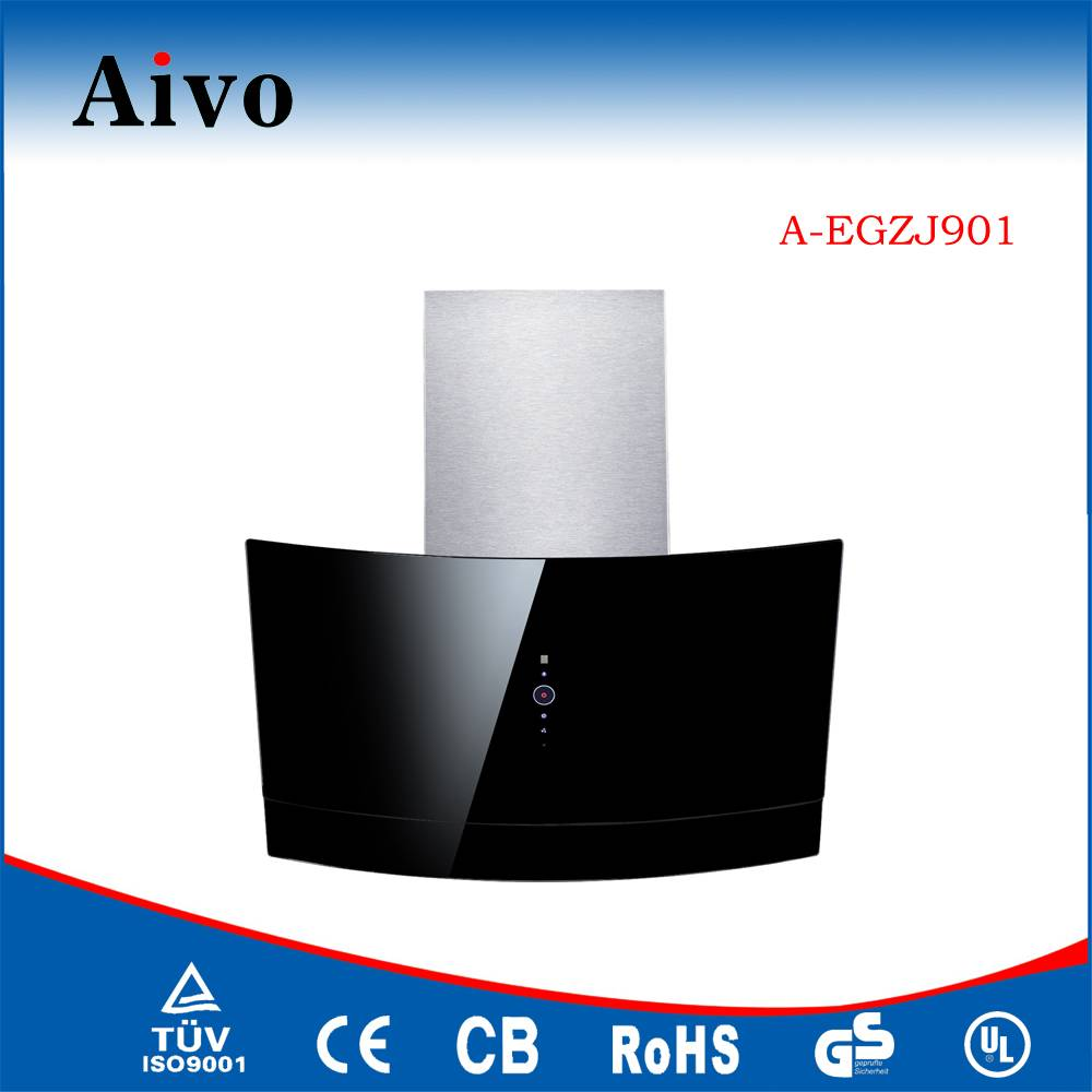 CE SAA CB GS Approved Black Glass Hot Selling 90cm Range Hood