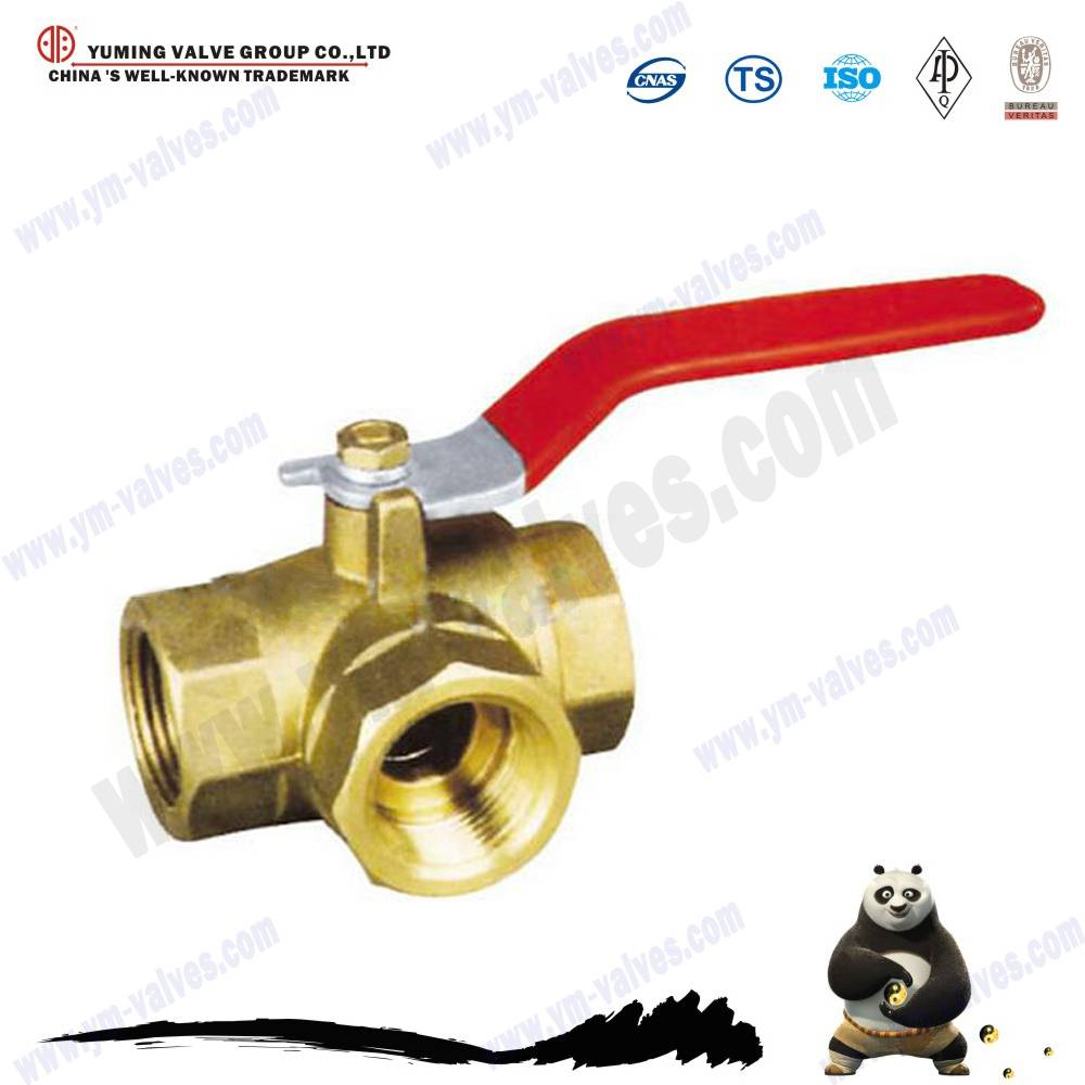 3 way brass thread ball valve