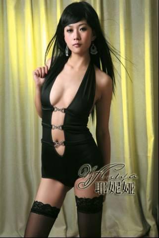 Black night dress set X3145