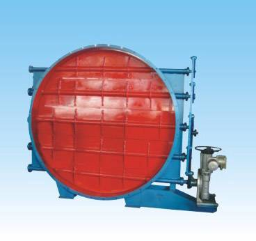 Electric circular type louver butterfly valve