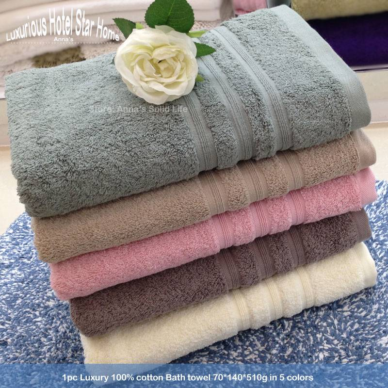 1pc Luxury 100% Egyptian cotton Bath Towel Roll 70*140cm*510g for Hotel Home Sport Beach Spa in 5 Co