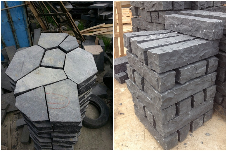G684 Dark Grey Granite,Black Granite Landscaping,Garden Paving
