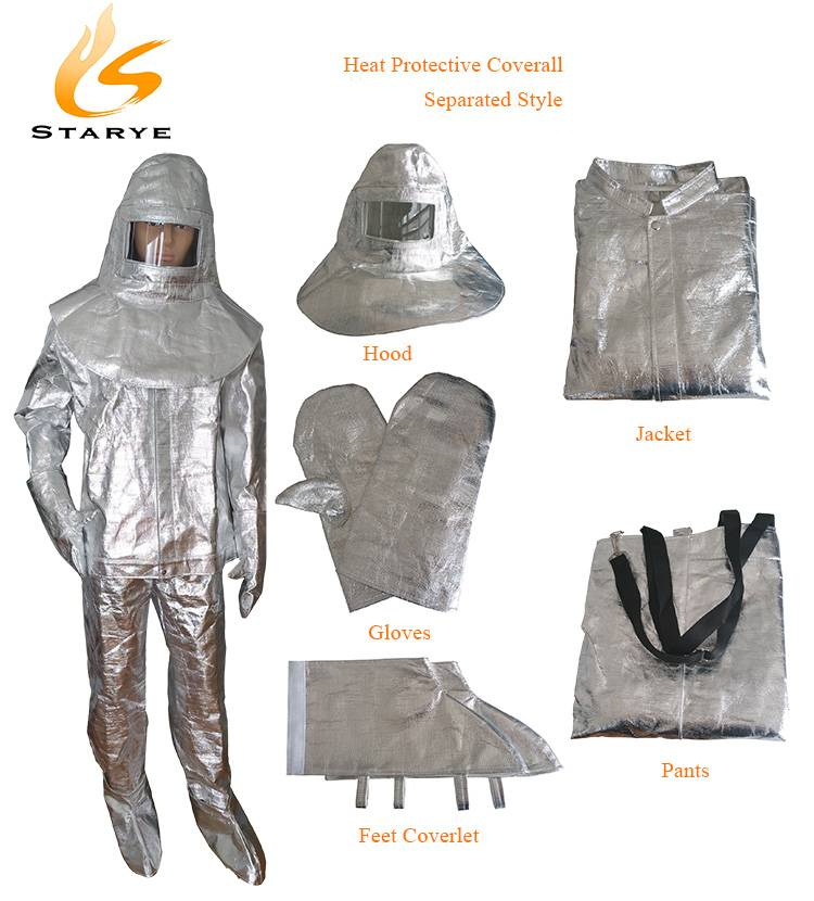 Firefighting Personal Gears Heat Protective Uniform