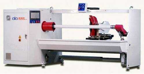 Jumbo masking tape roll cutting machine