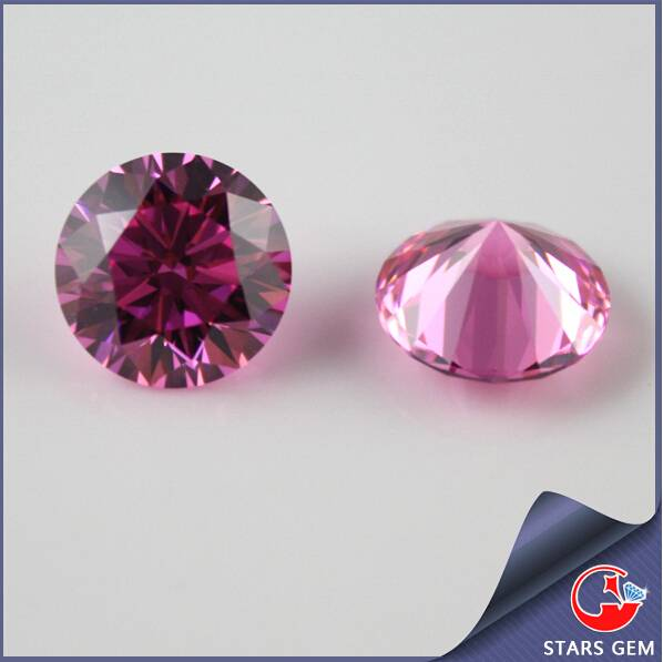 Competitive Price High Quality Pink Star Cut Gemstone