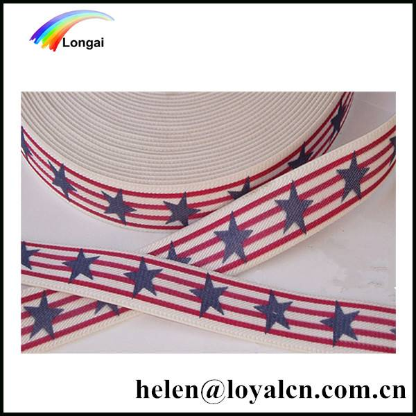 Factory wholesale elastic webbing/bands with printing for garments