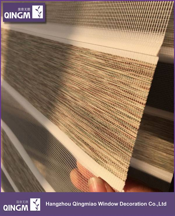 Elegant New Double Folded Zebra Blind Fabric For Window Sun Blackout