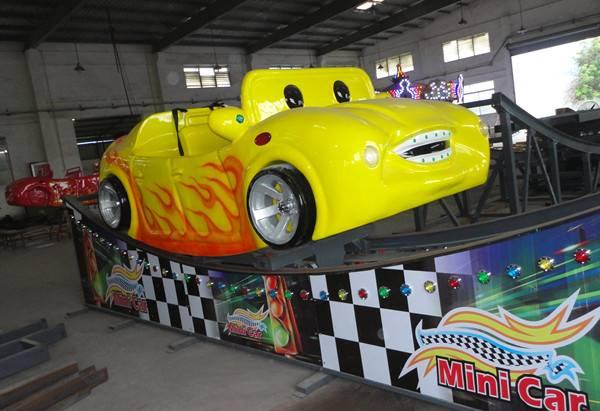 8 kids play amusement park ride mini flying car