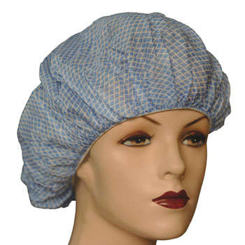 Spunbond Non Woven fabric Disposable printed Surgical Nurse Bouffant Cap