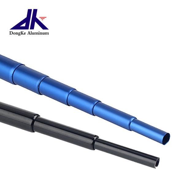 Small aluminum telescopic pole