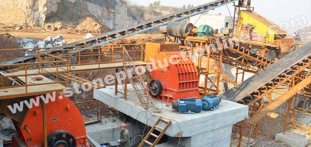 Professional designed stone crushing production line with superior quality