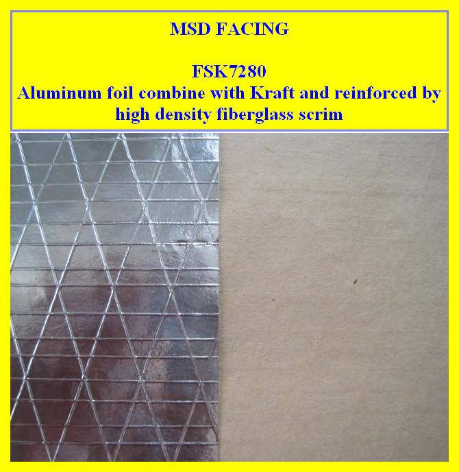 Aluminium Foil Scrim Kraft Facing