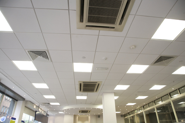 Rh95 Decorative Sound Absorption Acoustic Mineral Fiber (wool) Ceiling Board