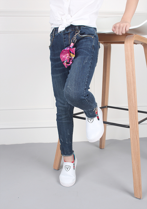 Elastic Jeans for Children Manufacture on Sale