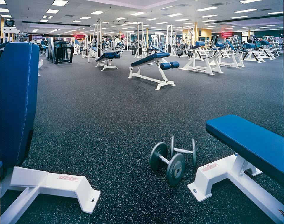 Recycled rubber flooring mats for gym