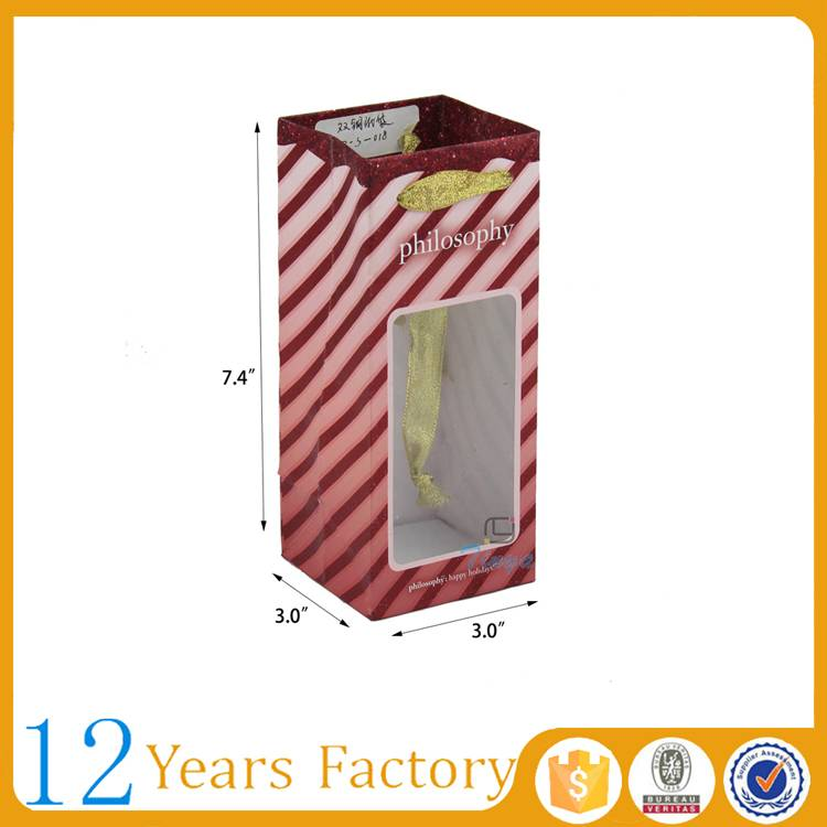 fancy packing birthday gift window paper bag