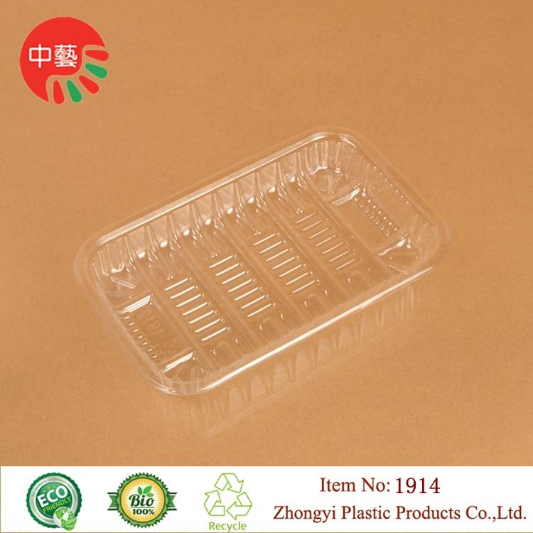 clear PET plastic disposable blister food tray