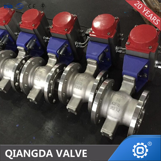 API608 FLOATING V PORT BALL VALVE