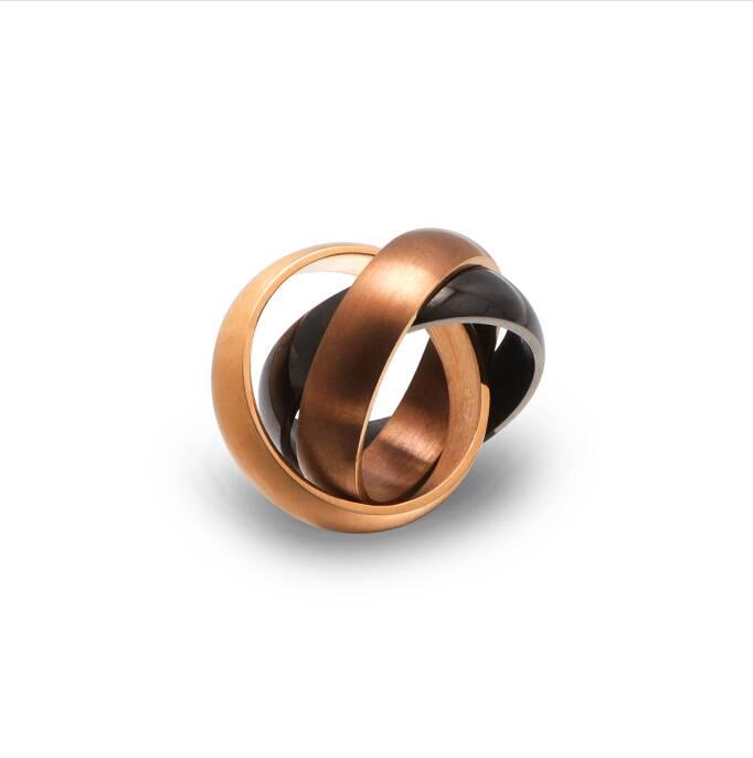 Trilogy Stainless Steel Men Ring, Unisex Ring