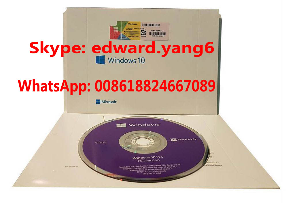 Win 10 Pro Win 10 Professional License Key Code Coa Sticker& DVD& Sealed Packing