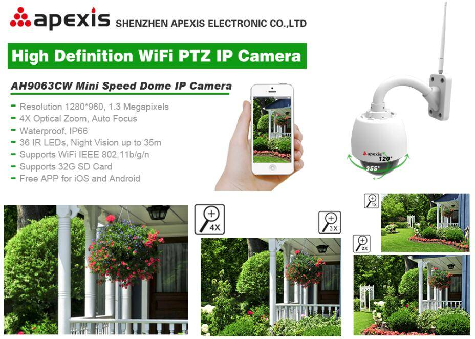 HD IP Dome Camera wifi/cable AH9063CW
