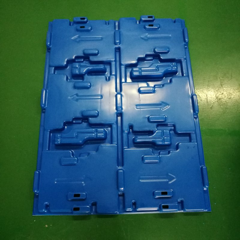 customized vacuum forming extra large plastic auto spare parts tray