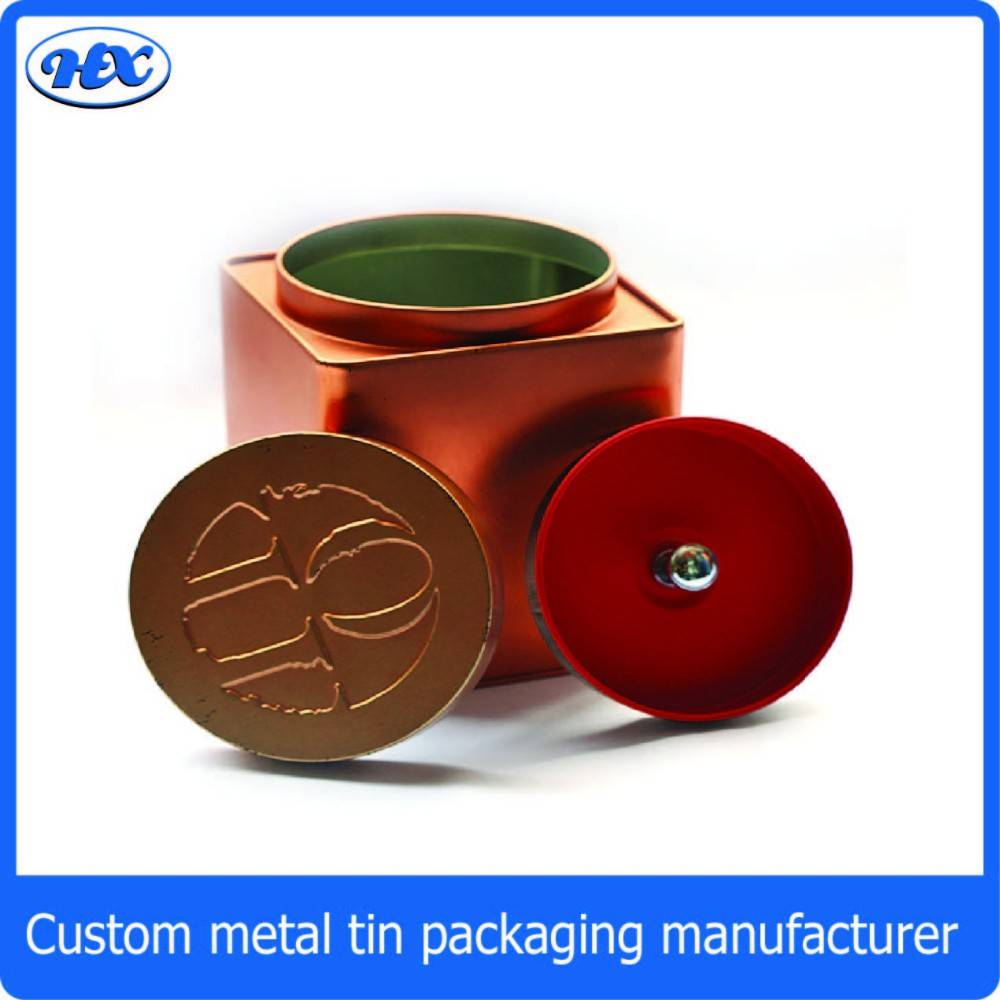Copper tin can rectangle biscuit tin boxes