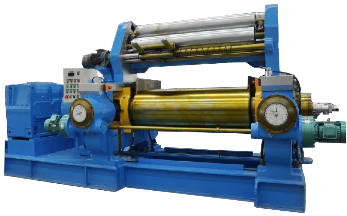 Two roll mixing mill for tire making plant