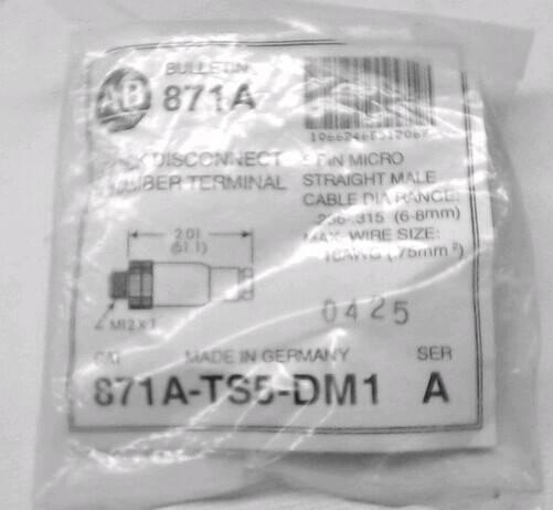 ALLEN BRADLEY 871A-TS5-DM1 QUICK DISCONNECT CHAMBER TERMINAL