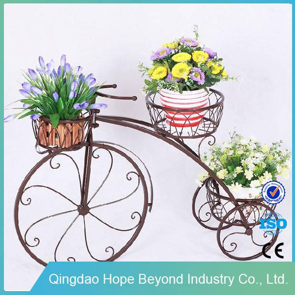 Garden supplies decoration iron bicycle wrought iron plant stand