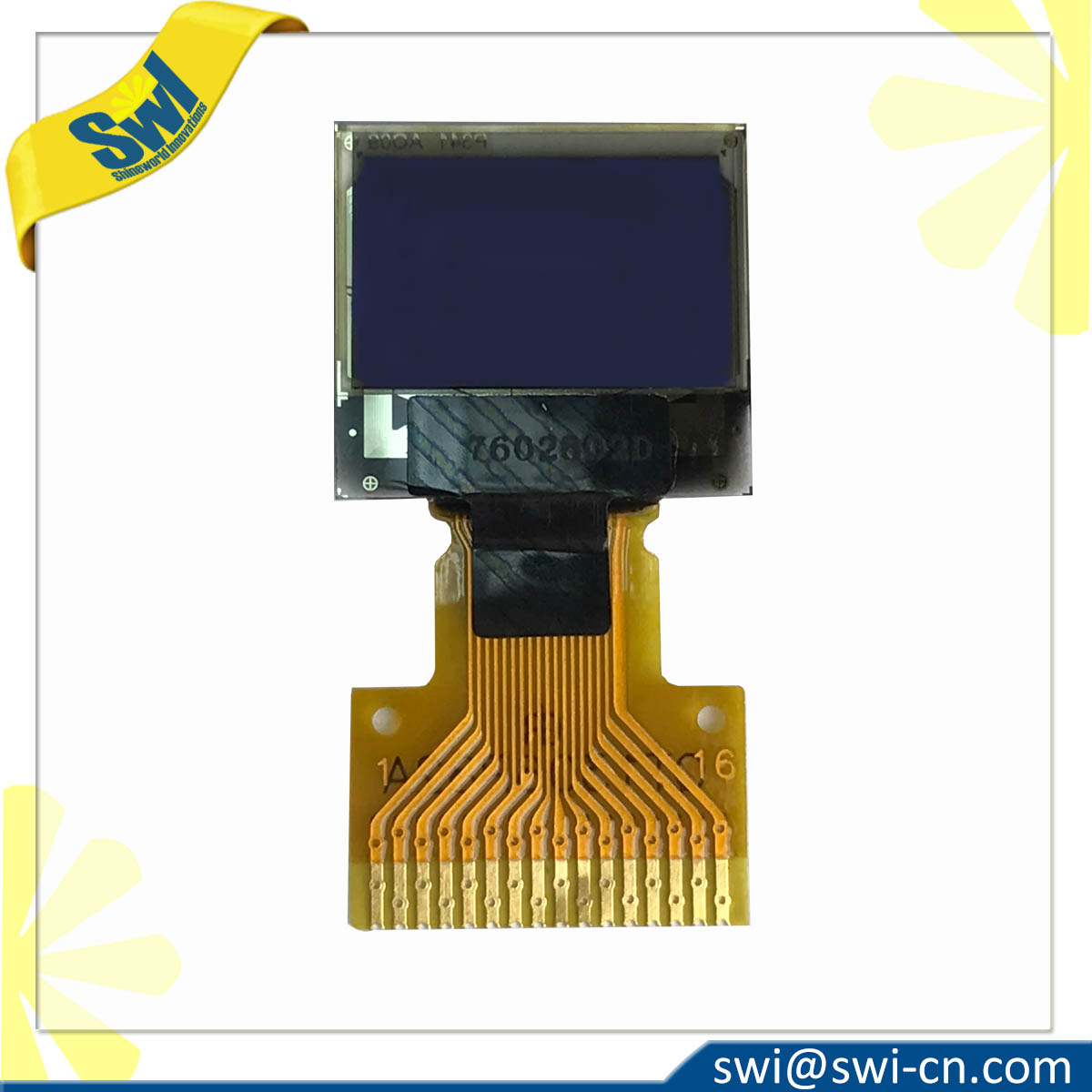 72x40 OLED Soldering Folding Type 16Pins