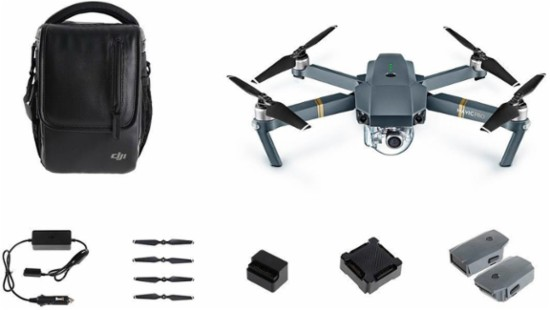 DJI - Mavic Pro Quadcopter Fly More Combo - Gray