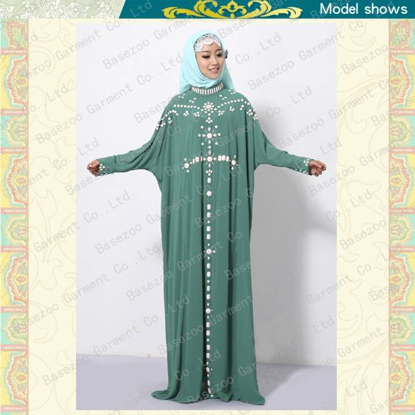 Latest fancy design hot drilled muslim abaya wholesale MF18180