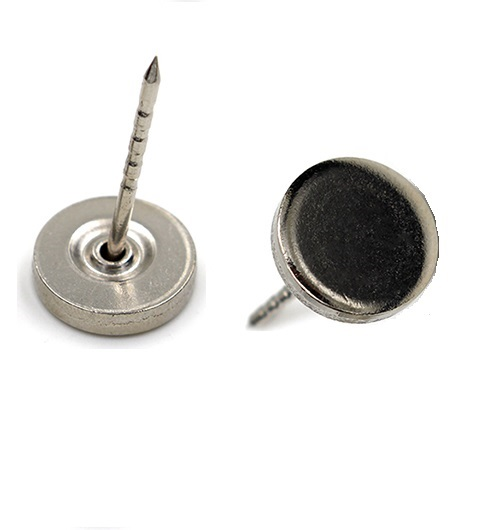 Flat head steel pin EAS metal pin for EAS security hard tag