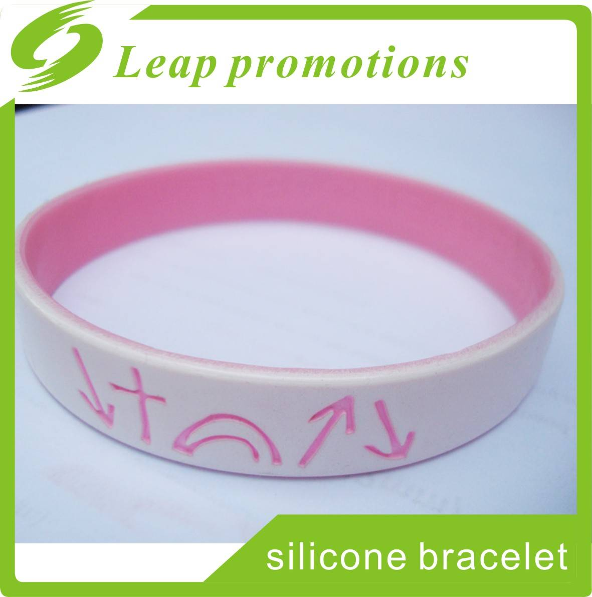 dual layer silicone wristband for party events