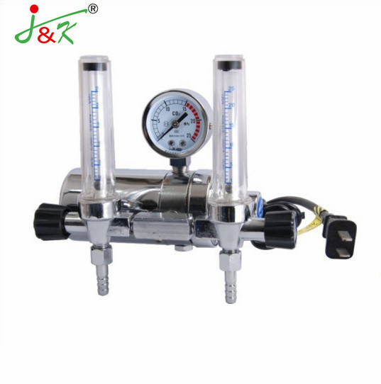 Double Flow Meter Electric CO2 Gas Regulator with High Quality