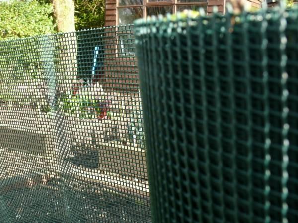 HDPE extruded dark green garden fence/ garden netting