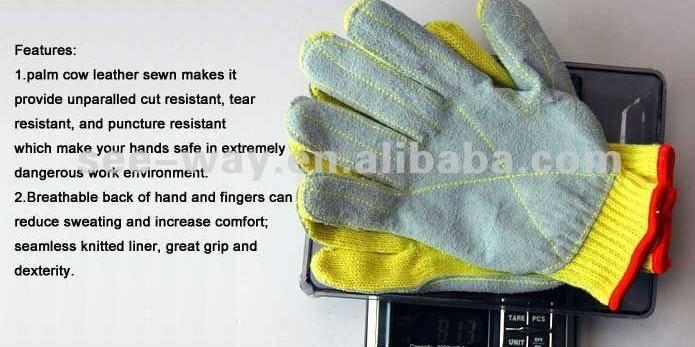 Cow Split Leather Gloves
