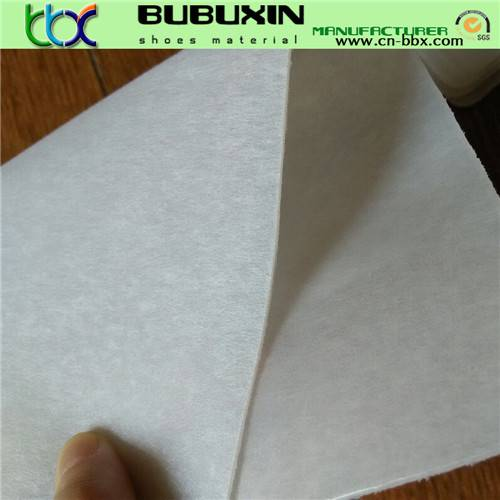 Hot melt non-woven fabric for toe puffs