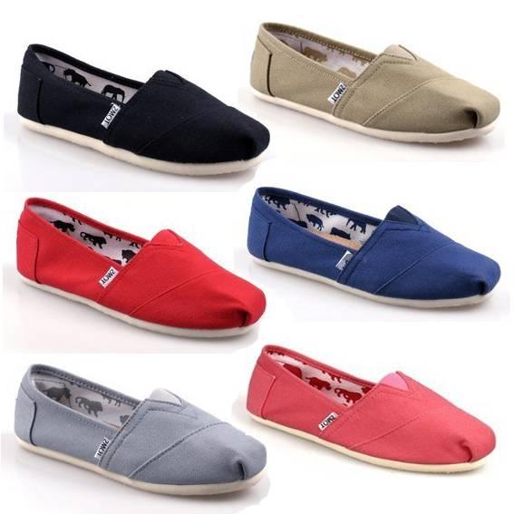 Fashion Casual Canvas Shoes Men Women Footwear Pure Colorshoes