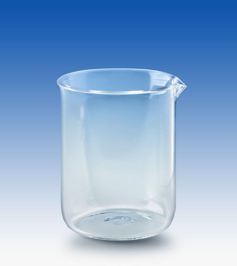 low form quartz beakers