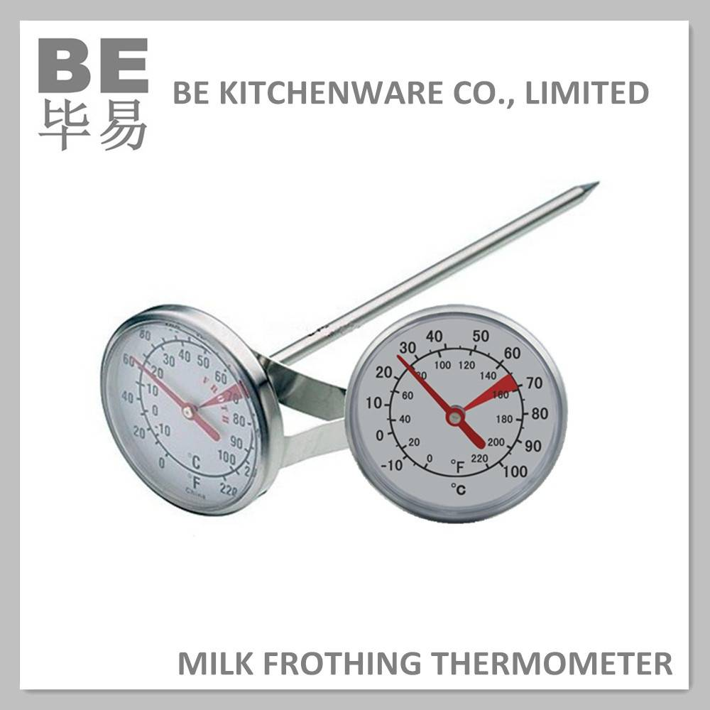 Bimetal milk frothing thermometer