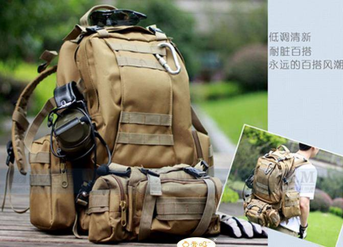 Tactical backpack nylon made outdoor pack camo combined backpack